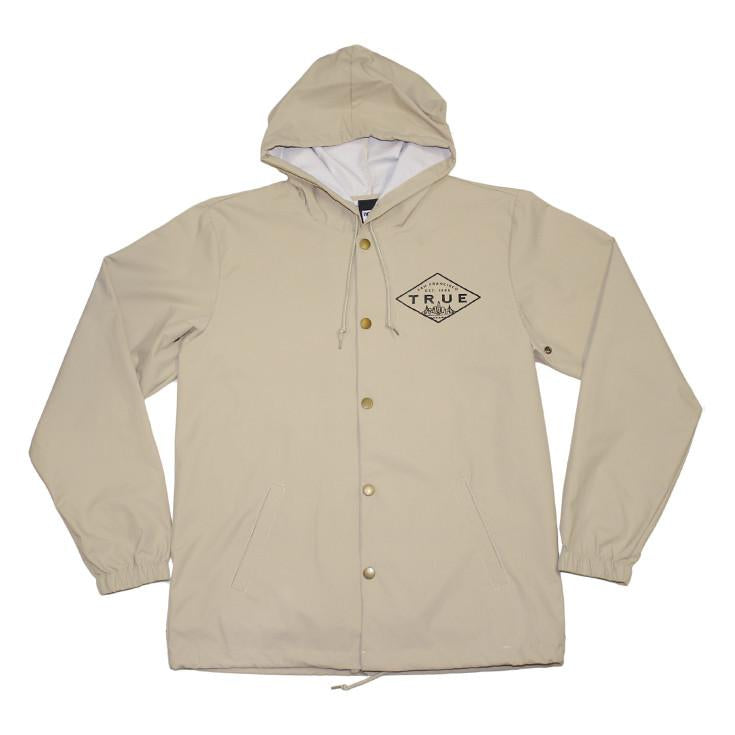 TRUE - Established Basic Men's Rain Jacket, Tan