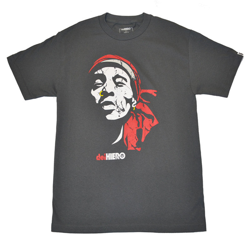 delHIERO - Face Del Men's Shirt, Graphite - The Giant Peach