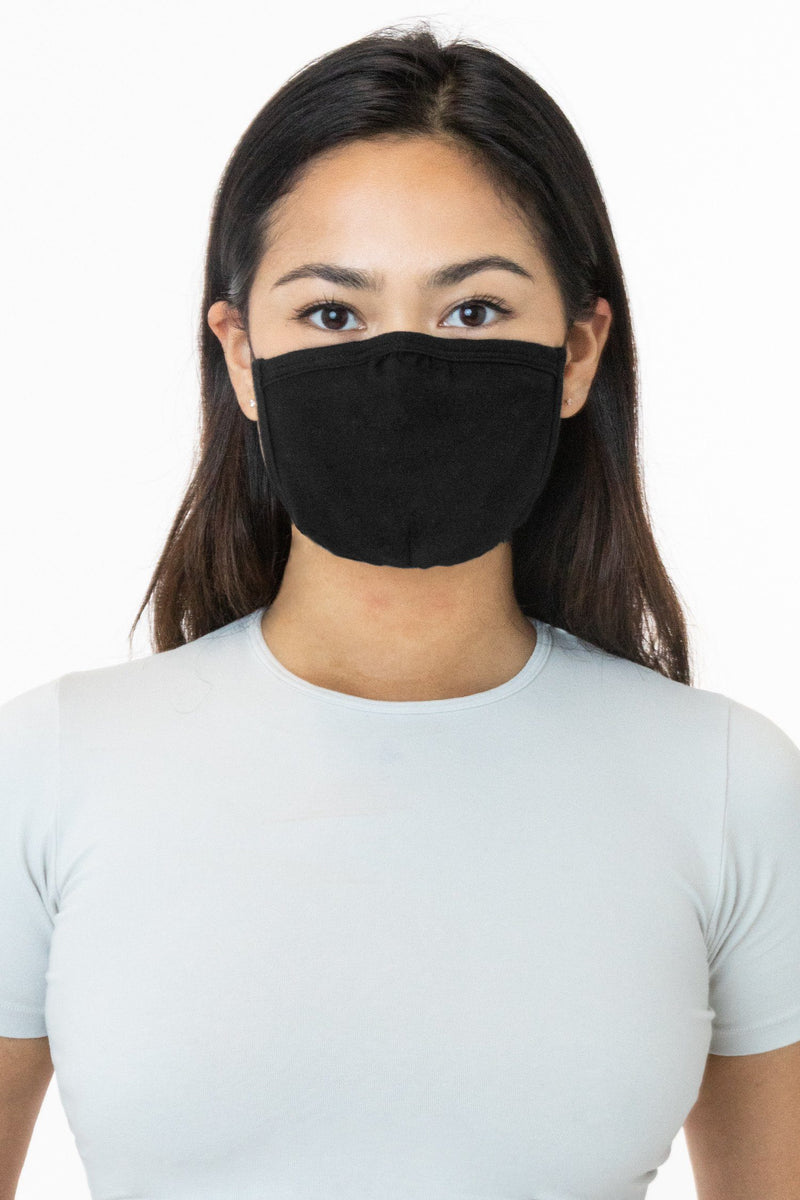 Los Angeles Apparel - Cotton Face Mask, Black