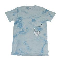 RIPNDIP - Falling For Nermal Men's Pocket Tee, Sky - The Giant Peach