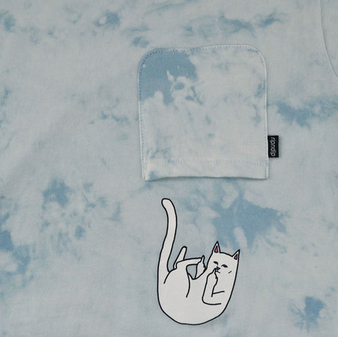 RIPNDIP - Falling For Nermal Men's Pocket Tee, Sky