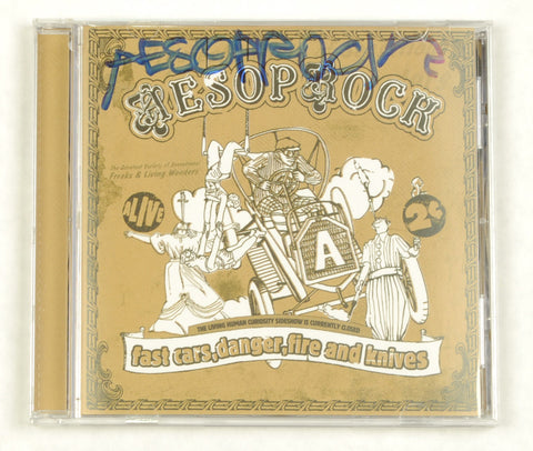 Aesop Rock - Fast Cars, Danger, Fire and Knives EP CD (autographed) - The Giant Peach