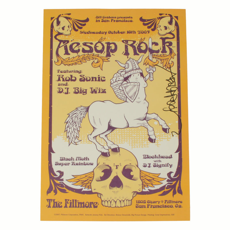 Aesop Rock - Fillmore Poster (autographed) - The Giant Peach