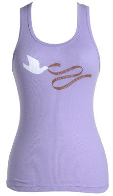 Soul Rebel - Women's Love Is The Message Tank, Lavender - The Giant Peach