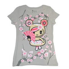 tokidoki - Fiori Dolci Women's Tee, Grey - The Giant Peach - 1