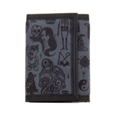 REBEL8 - Giant Flash Velcro Wallet, Charcoal - The Giant Peach