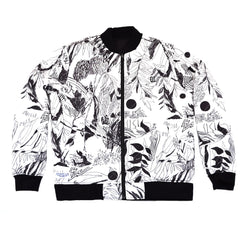 The Quiet Life - Flora Reversible Quilted Men's Coach Jacket, Black/Floral - The Giant Peach