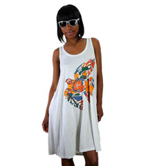 2K Milton Glaser - Bird Women's Dress, Ice Grey - The Giant Peach