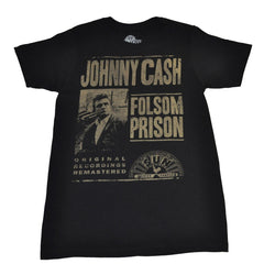 Johnny Cash - Folsom Prison Men's Shirt, Black - The Giant Peach