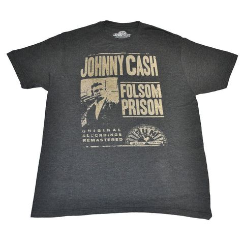 Johnny Cash - Folsom Prison Men's Shirt, Charcoal
