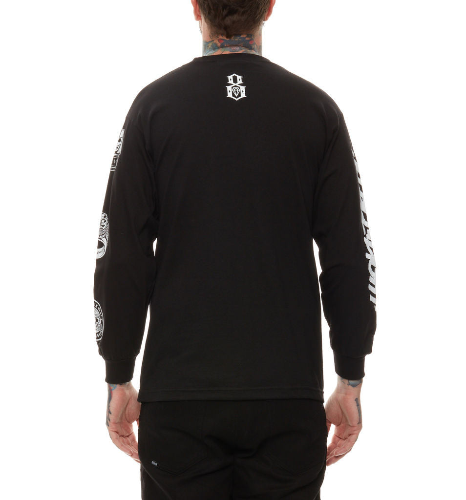 REBEL8 - Forever Fucked Men's L/S Shirt, Black - The Giant Peach - 3