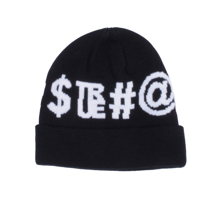 TRUE - Four Letter Beanie Hat, Black - The Giant Peach