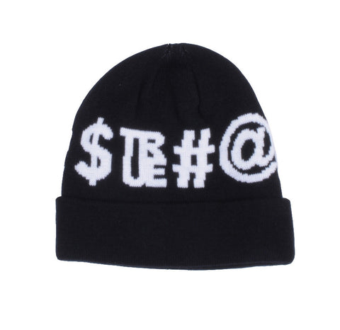 TRUE - Four Letter Beanie Hat, Black