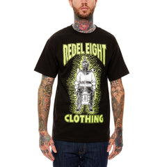REBEL8 - Fried Men's Shirt, Black - The Giant Peach - 1