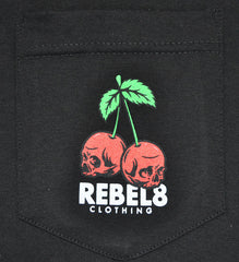 REBEL8 - Fruits of Labor Men's Shirt, Black - The Giant Peach