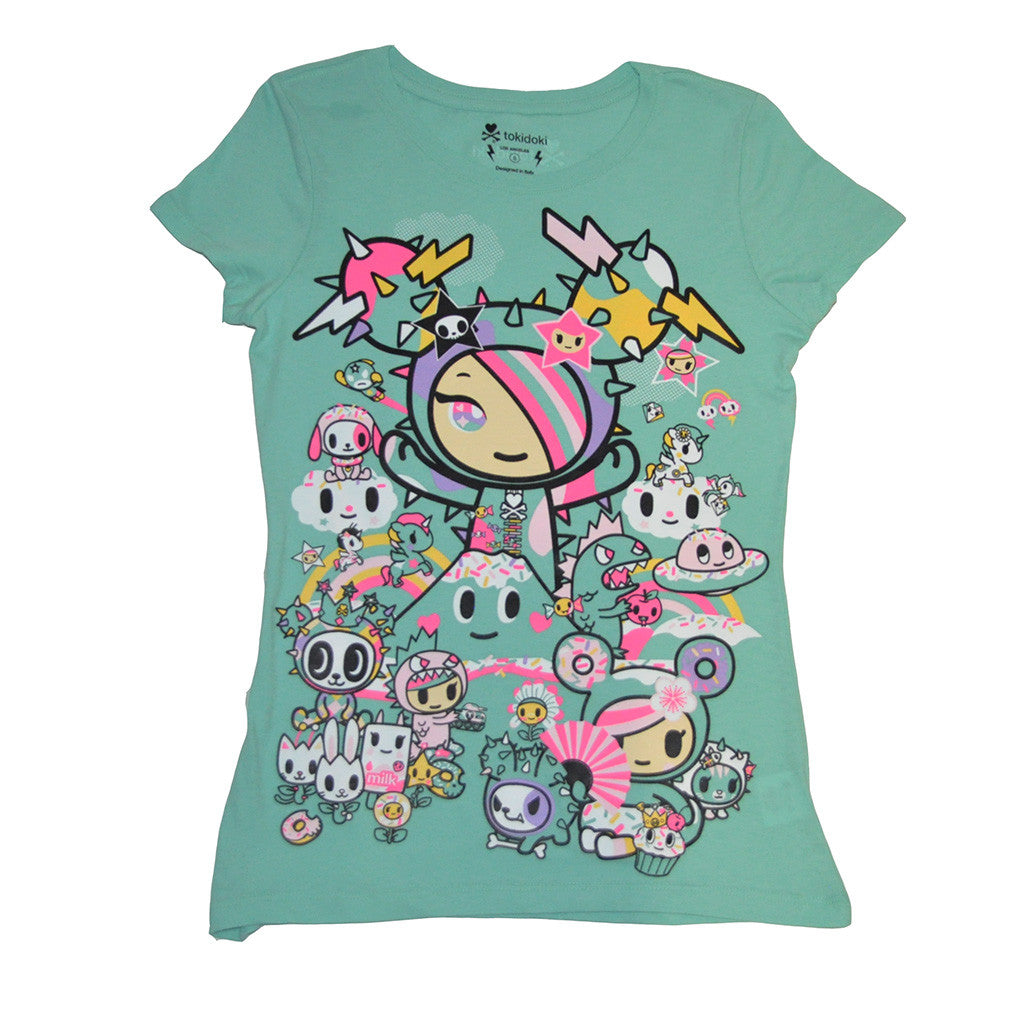 tokidoki - Fuji Rock Women's Tee, Mint - The Giant Peach - 1