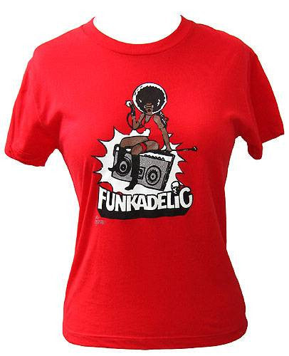 Funkadelic - Radio Women's Shirt, Red - The Giant Peach