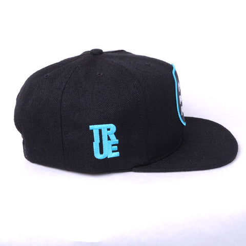 TRUE - Future 6 Panel Snapback Hat, Black