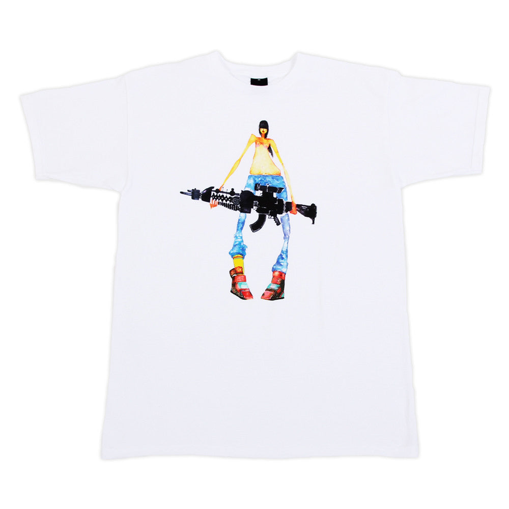 FIFTY24SF - David Choe Nothing to Declare Men's Shirt, White - The Giant Peach - 1