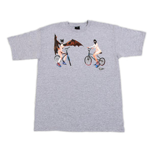 FIFTY24SF -David Choe Midnight Marauders Men's Shirt, Athletic Heather - The Giant Peach