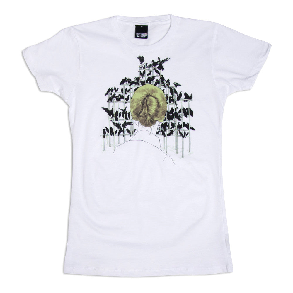 FIFTY24SF Gallery - Tomer Hanuka Birds Women's Shirt, White - The Giant Peach - 1
