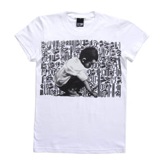 FIFTY24SF Gallery - El Mac x Retna Young Scribe Women's Shirt, White - The Giant Peach