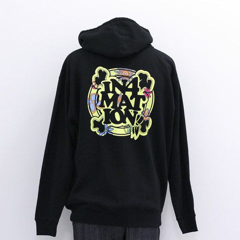 in4mation - FYI Eye Know Zip Hoodie, Black - The Giant Peach - 1