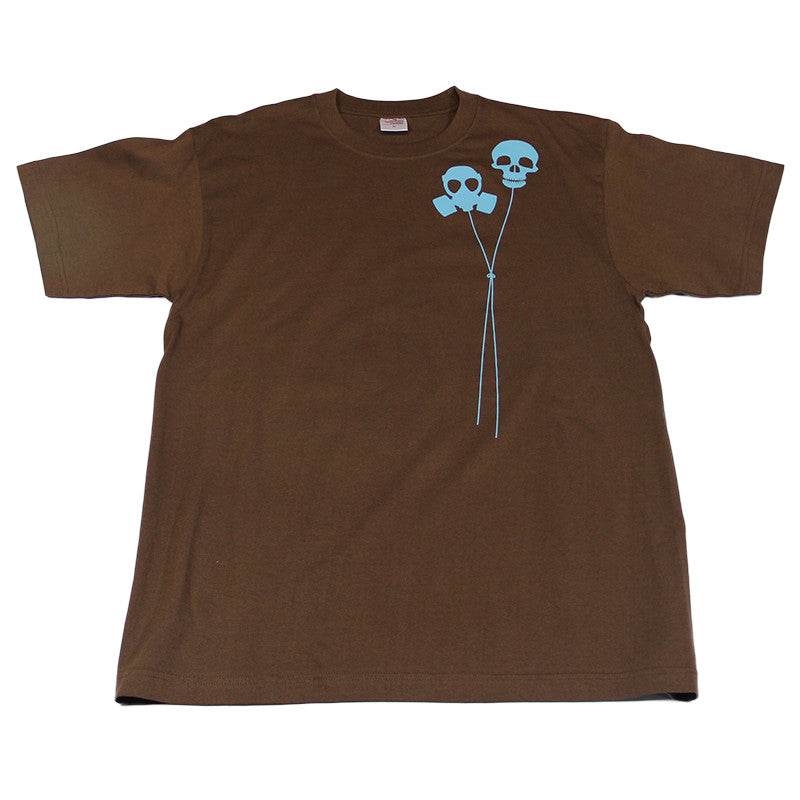 Definitive Jux - Gasmask Balloon Men's Shirt, Brown - The Giant Peach - 1