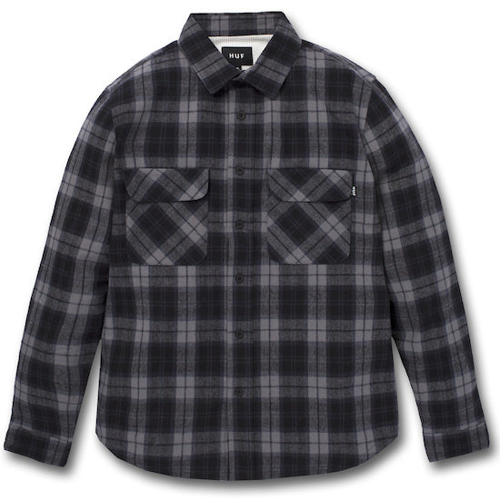 HUF - Gatsby Men's Flannel Shirt, Black - The Giant Peach