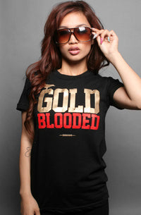 Adapt - Gold Blooded Women's T-Shirt, Black - The Giant Peach