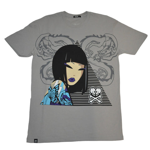 tokidoki TKDK - Geo Girl Men's Shirt, Cement