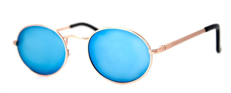 Wonderful Sunglasses, Gold/Blue Mirror