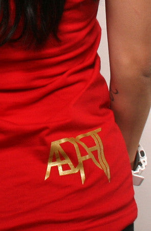 Adapt - Gold Blooded Women's Tank Top, Red - The Giant Peach