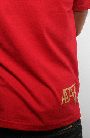 Adapt - Gold Blooded Men's Shirt, Red/Gold - The Giant Peach