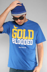 Adapt - Gold Blooded Men's Shirt, Royal - The Giant Peach