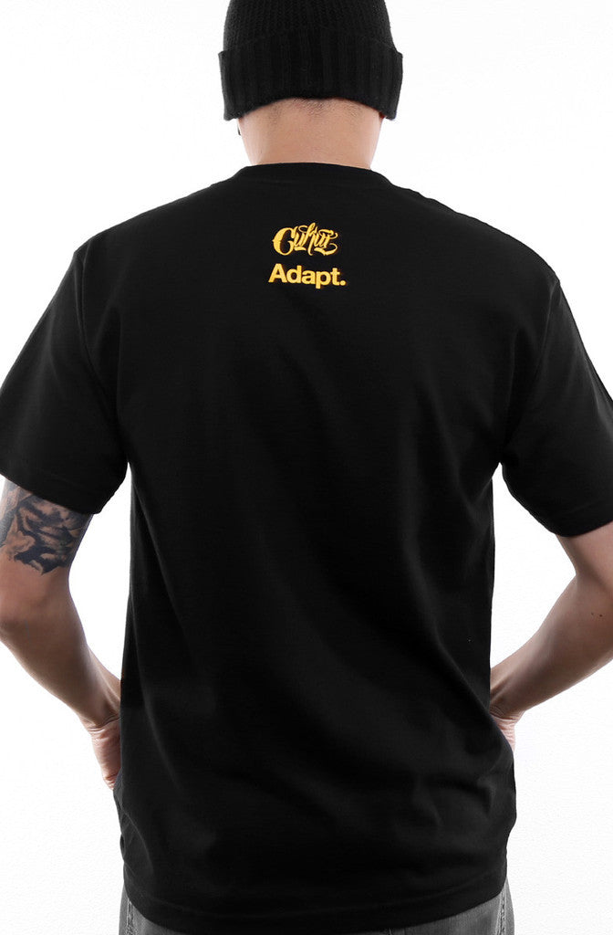 Adapt x Cukui - Gold Blooded Tribal Men's Shirt, Black - The Giant Peach