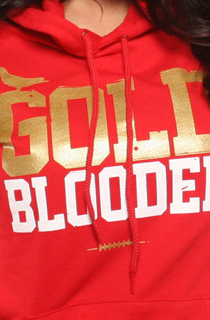 Adapt - Gold Blooded  Women's Hoodie, Red - The Giant Peach