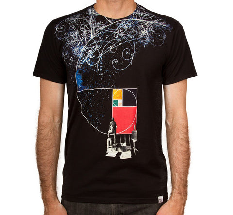 Imaginary Foundation - Golden Easel Men's Shirt, Black