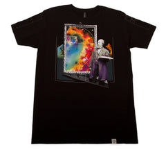 Imaginary Foundation - Golden Galaxy Men's Shirt, Black - The Giant Peach
