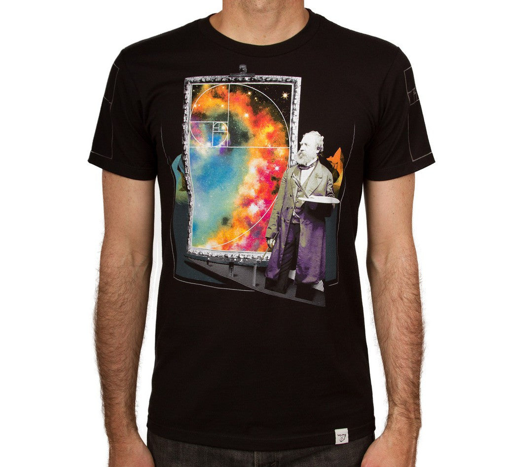 Imaginary Foundation - Golden Galaxy Men's Shirt, Black - The Giant Peach - 1