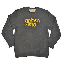delHIERO - Golden Era Men's Crewneck Sweatshirt, Charcoal - The Giant Peach - 1