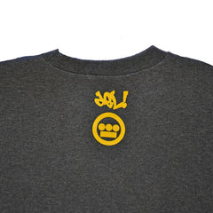 delHIERO - Golden Era Men's Crewneck Sweatshirt, Charcoal - The Giant Peach - 2