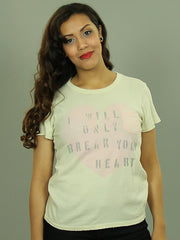 Junk Food Clothing - Break Your Heart  Women's Shirt, Almond - The Giant Peach