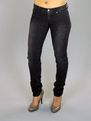 RVCA - Nova Skinny Women's Jeans, Gun Metal - The Giant Peach