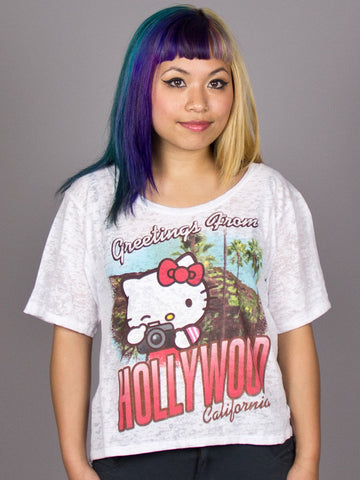 Mighty Fine - Hello Kitty Snap Women's Shirt, Grey Triblend