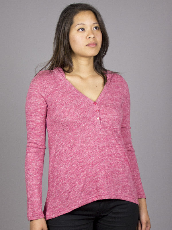 Eden by Element - Giselle L/S Women's Top, Cranberry - The Giant Peach - 1