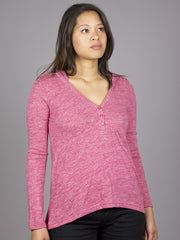 Eden by Element - Giselle L/S Women's Top, Cranberry - The Giant Peach