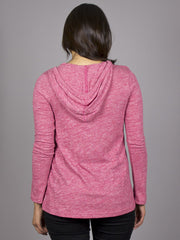 Eden by Element - Giselle L/S Women's Top, Cranberry - The Giant Peach - 2