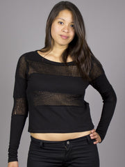 Eden by Element - Ingrid L/S Women's Top, Black - The Giant Peach