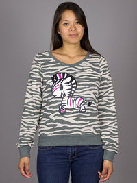 tokidoki - Punk Zebra L/S Women's Top, Grey - The Giant Peach